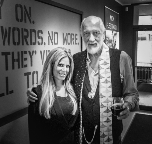 Allison Zucker-Perelman with Mick Fleetwood.
